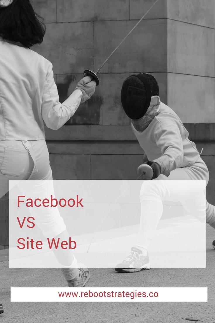 facebook vs site web agence web montreal agence conception site web agence médias sociaux