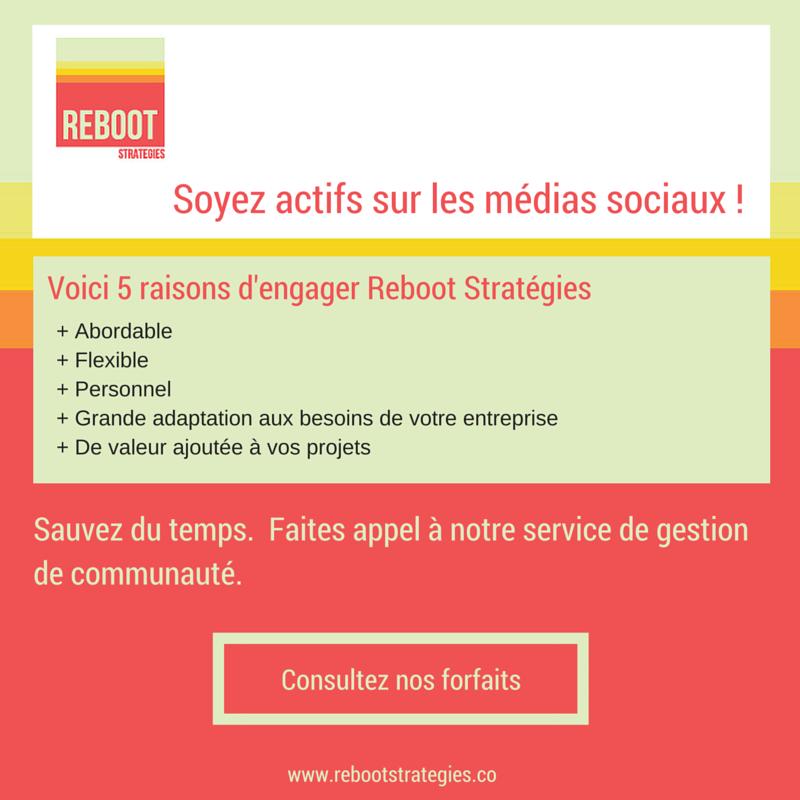médias sociaux agence montréal gestion de communauté