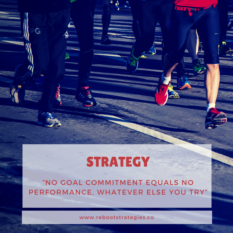 No goal commitment equals no performance. agence web montreal