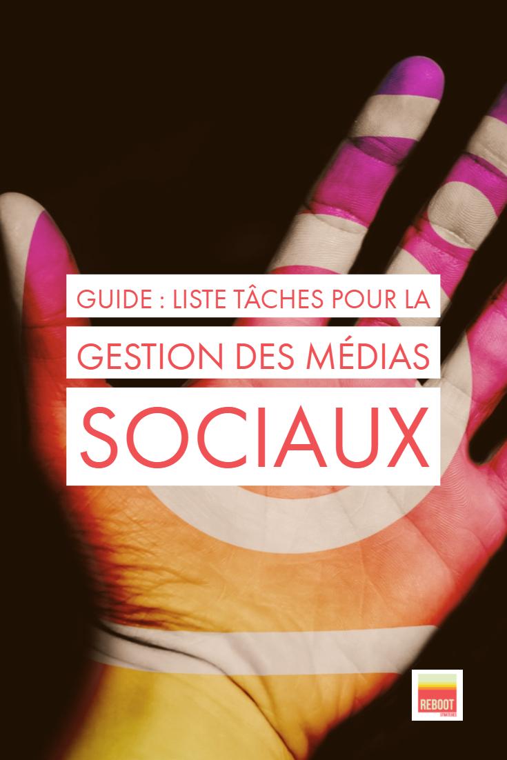 liste de tâches médias sociaux
