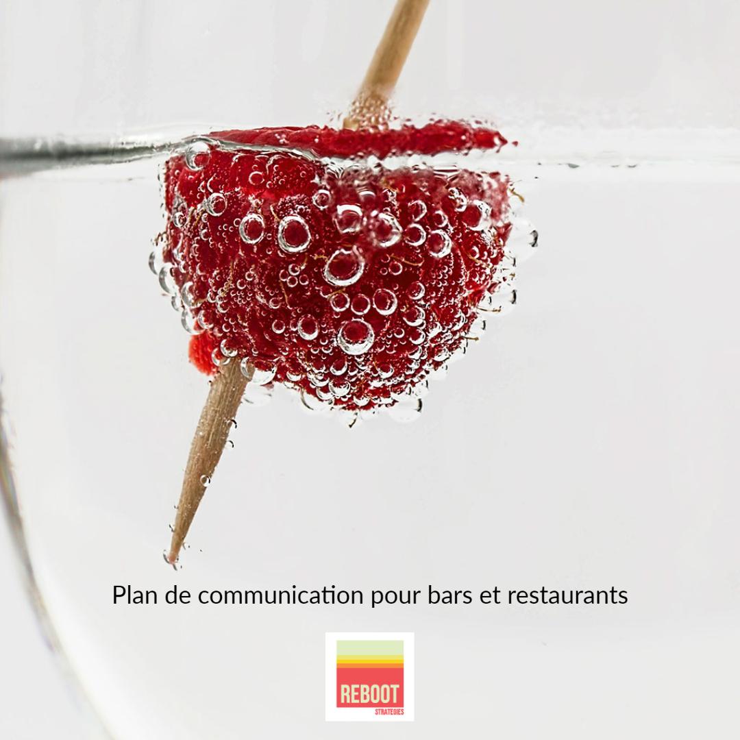 Fonds de relance des bars et des restaurants du centre-ville plan de communication